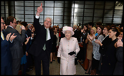 HRH The Queen during her visit to Lloyd's of London, London, United Kingdom. Thursday, 27th March 2014. Picture by Andrew Parsons / i-Images