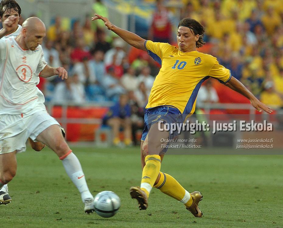 Zlatan Ibrahimovic, Sweden-Holland 26.6.2004.&amp;#xA;Euro 2004.&amp;#xA;Photo: Jussi Eskola<br />