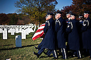 Bill Frizzell makes his last trip, carried by the Air Force Honor Guard at the Arlington National Cemetery on November 8th, 2010.