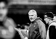 Bath Rugby's Head Coach Todd Blackadder during the pre match warm up<br /> <br /> Photographer Simon King/Replay Images<br /> <br /> Anglo-Welsh Cup Round 4 - Ospreys v Bath Rugby - Friday 2nd February 2018 - Liberty Stadium - Swansea<br /> <br /> World Copyright &copy; Replay Images . All rights reserved. info@replayimages.co.uk - http://replayimages.co.uk