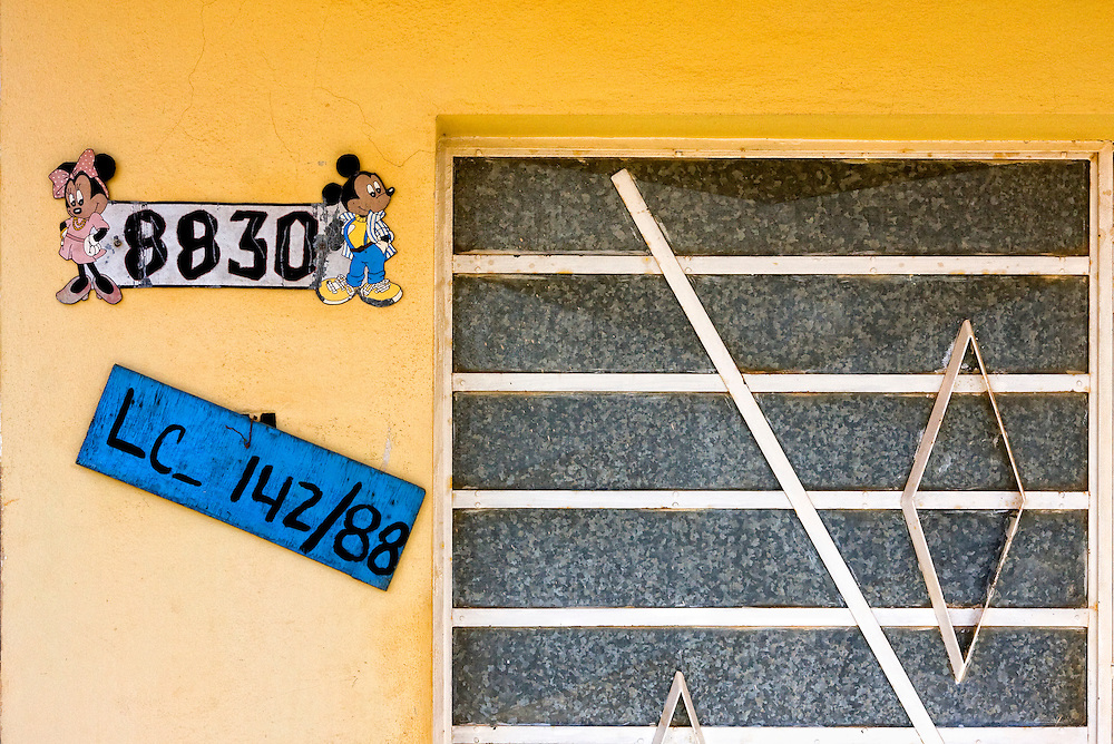 Mickey Mouse and Minnie Mouse in Guira de Melena, Artemisa,Cuba.