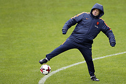 coach Dick Advocaat of Holland during a training session prior to the FIFA World Cup 2018 qualifying match between Belarus and Netherlands on October 06, 2017 at Borisov Arena in Borisov,  Belarus