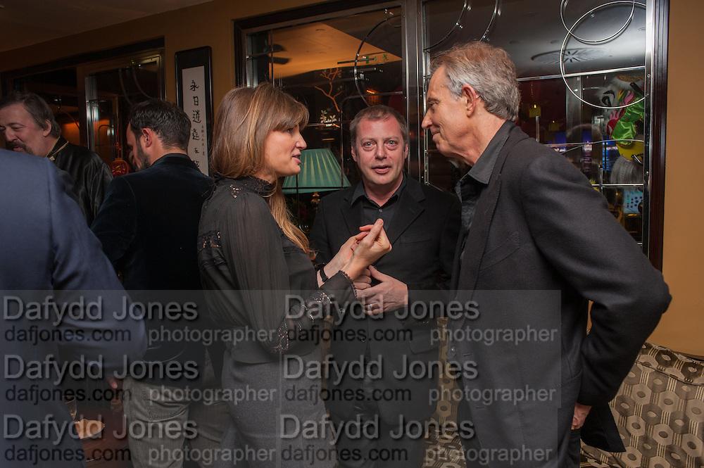 JEMIMA KHAN; MATTHEW FREUD; TONY BLAIR, Chinese New Year dinner given by Sir David Tang. China Tang. Park Lane. London. 4 February 2013.