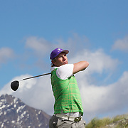 Former All Black Justin Marshall at Jack's Point Golf Course, Queenstown New Zealand. The course is considered one of the top 100 golf courses in the world. Set within a 3,000 acre nature preserve on the shores of Lake Wakatipu, Jacks Point has sweeping lake and alpine vistas with a 360-degree mountain scape. The course is bounded by the Remarkables mountain range and Lake Wakatipu. Queenstown, Otago, New Zealand. 26th November 2011. Photo Tim Clayton