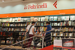 April 14, 2017 - Rome, Italy, Italy - The famous Italian cartoonist Zerocalcare, pseudonym of Michele Rech, presented at the Feltrinelli bookshop in via Appia in Rome the new edition of his book: 'The Armadillo prophecy' (Credit Image: © Leo Claudio De Petris/Pacific Press via ZUMA Wire)