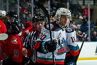 KELOWNA, BC - DECEMBER 30:  Matthew Wedman #20 of the Kelowna Rockets skates away from a line scrum against the Prince George Cougars at Prospera Place on December 30, 2019 in Kelowna, Canada. (Photo by Marissa Baecker/Shoot the Breeze)