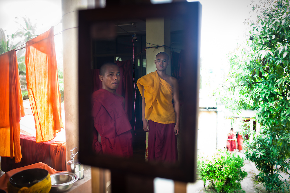 Pictured on the left is Indavonsha, who was my guide to the scenes of Buddhism around Yangon.