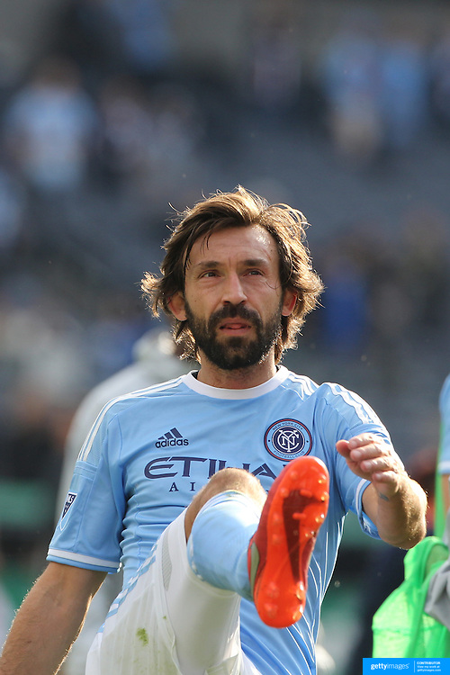 Andrea Pirlo, NYCFC, during the New York City FC Vs New England Revolution, MSL regular season football match at Yankee Stadium, The Bronx, New York,  USA. 26th March 2016. Photo Tim Clayton
