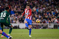 Atletico de Madrid's Fernando Torres and Real Betis's Ryan Donk during La Liga match between Atletico de Madrid and Real Betis at Vicente Calderon Stadium in Madrid, Spain. January 14, 2017. (ALTERPHOTOS/BorjaB.Hojas)