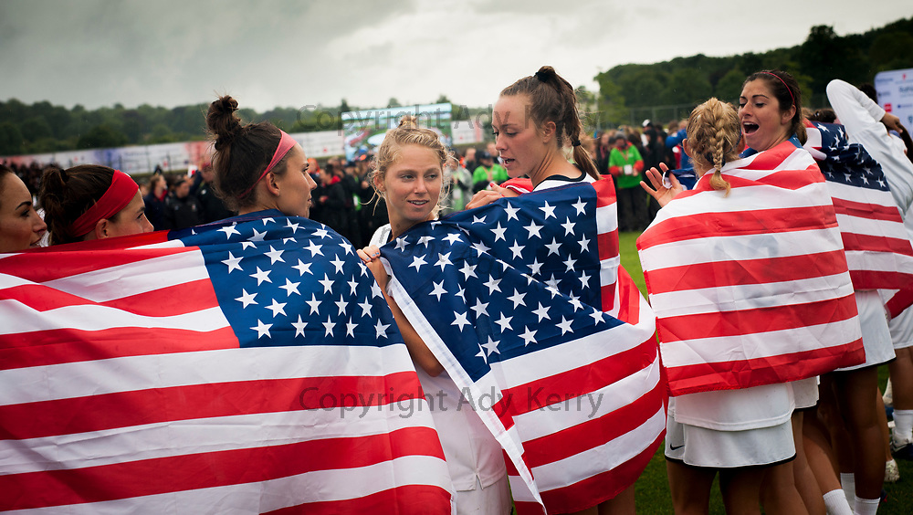 USA's celebrate winning the World Cup 2017 FIL Rathbones Women's Lacrosse World Cup, at Surrey Sports Park, Guildford, Surrey, UK, 22nd July 2017.