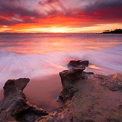 Sunset at Heisler Park in Laguna Beach, CA.