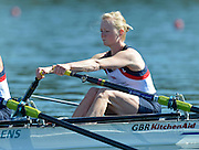 Varese,  ITALY. 2012 FISA European Championships, Lake Varese Regatta Course. ..GBR LW2X, Bow Ruth WALCZAK and Imogen WALSH  at the start of their heat of the Women's lightweight Sculls..10:58:04  Friday  14/09/2012 .....[Mandatory Credit Peter Spurrier:  Intersport Images]  ..2012 European Rowing Championships Rowing, European,  2012 010708.jpg.....
