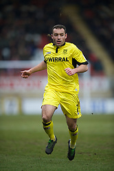 LONDON, ENGLAND - Saturday, February 9, 2013: Tranmere Rovers' Danny Holmes in action against Leyton Orient during the Football League One match at Brisbane Road. (Pic by David Rawcliffe/Propaganda)