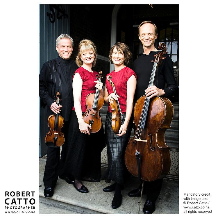Douglas Beilman;Gillian Ansell;Helene Pohl;Rolf Gjelsten (New Zealand String Quartet)  at Victoria University, Wellington, New Zealand.