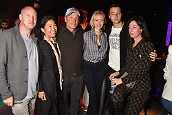 "Matthew Freud, Laura Louie, Woody Harrelson, Camilla al-Fayed, Arthur Donald, Mary McCartney at ""Hoping For Palestine"" Benefit Concert For Palestinian Refugee Children held at The Roundhouse, Chalk Farm Road, England. 04 June 2018."