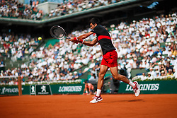 June 3, 2018 - Paris, U.S. - PARIS, FRANCE  - JUNE 03: NOVAK DJOKOVIC (SRB) during the French Open on June 03, 2018, at Stade Roland-Garros in Paris, France.(Photo by Chaz Niell/Icon Sportswire) (Credit Image: © Chaz Niell/Icon SMI via ZUMA Press)
