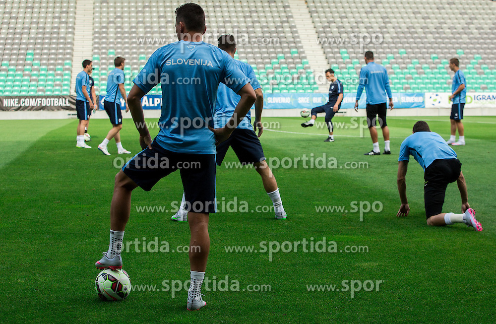 Players during practice session of Slovenian National Football Team before Euro 2016 Qualifications match against England, on June 12, 2015 in SRC Stozice, Ljubljana, Slovenia. Photo by Vid Ponikvar / Sportida