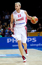 Anton Ponkrashov of Russia during basketball match between National teams of Russia and Ukraine in Group D of Preliminary Round of Eurobasket Lithuania 2011, on August 31, 2011, in Arena Svyturio, Klaipeda, Lithuania. (Photo by Vid Ponikvar / Sportida)