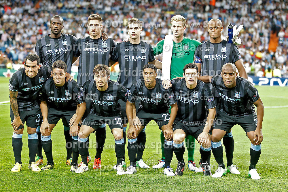 18.09.2012, Estadio Santiago Bernabeu, STADT, ESP, UEFA Champions League, Real Madrid vs Manchester City, Gruppe D, im Bild Manchester City's team photo // during the UEFA Champions League group D match between Real Madrid CF and Manchester City at the Estadio Santiago Bernabeu, Madrid, Spain on 2012/09/18. EXPA Pictures © 2012, PhotoCredit: EXPA/ Alterphotos/ Alvaro Hernandez..***** ATTENTION - OUT OF ESP and SUI *****