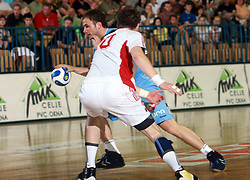 Uros Zorman of Slovenia at  handball game between men national teams of Slovenia and Slovakia, first qualification game for the World Chamionship 2009, on June 7, 2008, in Arena Zlatorog, Celje, Slovenija. Result: 33 : 33. (Photo by Vid Ponikvar / Sportal Images)