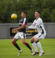 Dundee new boy Danny Williams and Dumbarton's Gregor Buchanan - Dumbarton v Dundee, pre-season friendly at the Cheaper Insurance Direct Stadium, Dumbarton<br /> <br />  - &copy; David Young - www.davidyoungphoto.co.uk - email: davidyoungphoto@gmail.com