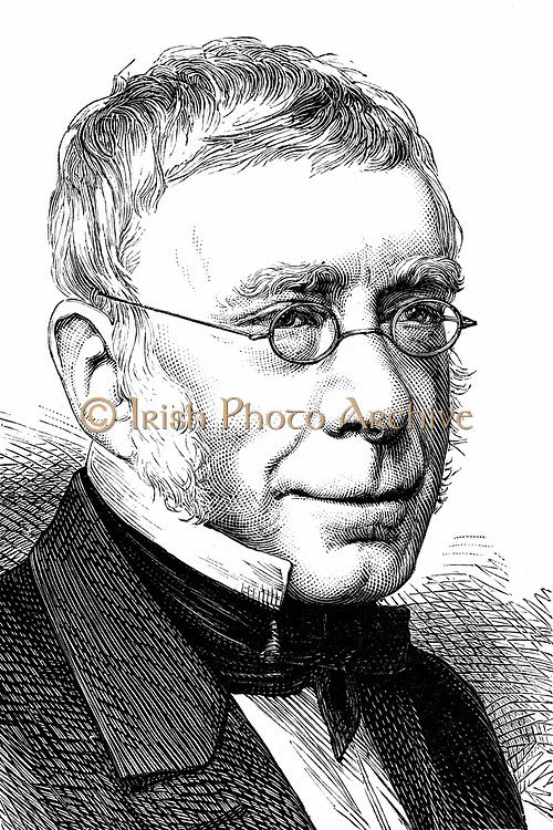 George Biddell Airy (1801-1892) English astronomer and geophysicist. Astronomer Royal (1835-1881). Woodcut published Paris 1892