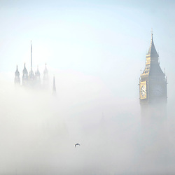 Fea0035914.DT News.Big Ben and the Houses of Parliament in the Mist