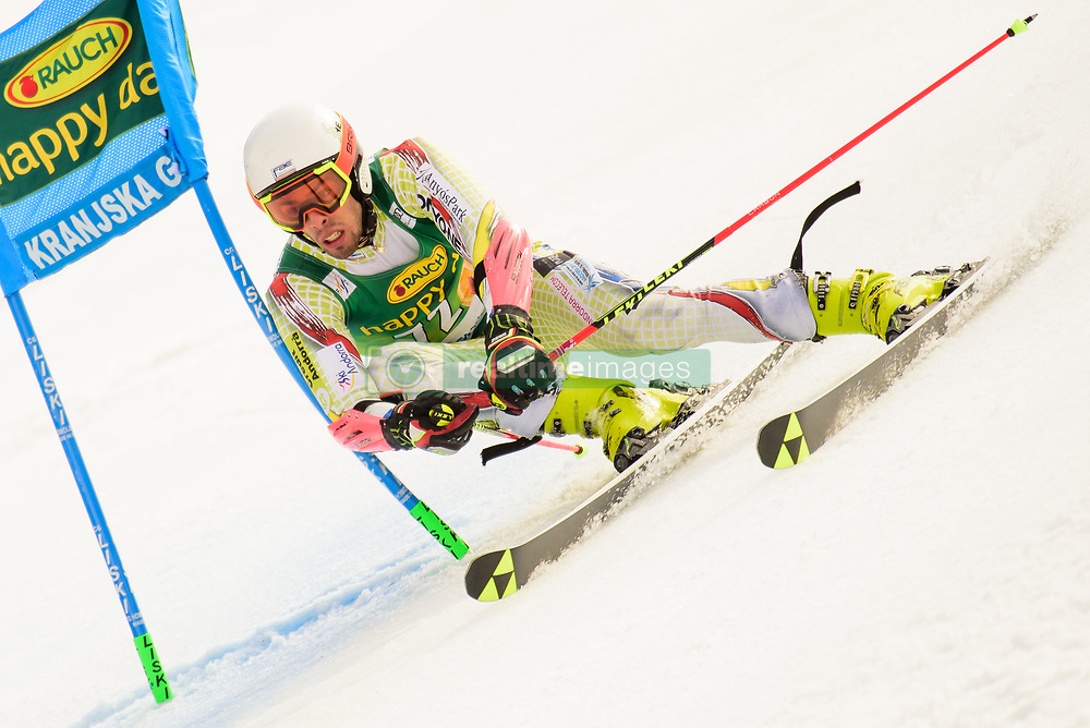 March 9, 2019 - Kranjska Gora, Kranjska Gora, Slovenia - Axel Esteve of Andora in action during Audi FIS Ski World Cup Vitranc on March 8, 2019 in Kranjska Gora, Slovenia. (Credit Image: © Rok Rakun/Pacific Press via ZUMA Wire)
