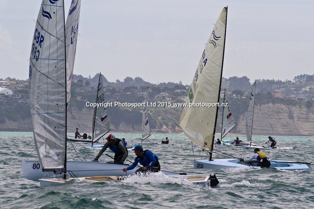 Race 6 Finn Gold Cup Takapuna - Downwind contest