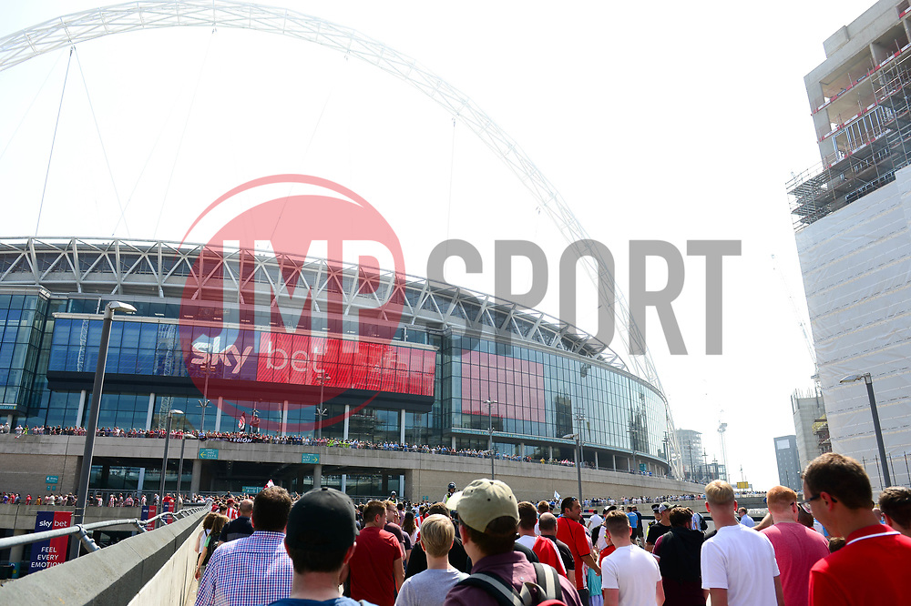 Exeter City fans arrive at Wembley Stadium for the Sky Bet League Two play-off final - Mandatory by-line: Dougie Allward/JMP - 28/05/2018 - FOOTBALL - Wembley Stadium - London, England - Coventry City v Exeter City - Sky Bet League Two Play-off Final