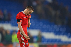 CARDIFF, WALES - Tuesday, November 14, 2017: Wales' captain Chris Gunter after the international friendly match between Wales and Panama at the Cardiff City Stadium. (Pic by David Rawcliffe/Propaganda)