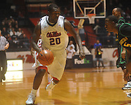 """Ole Miss guard Nick Williams (20) against Southeastern Louisiana at the C.M. """"Tad"""" Smith Coliseum in Oxford, Miss. on Sunday, January 2, 2011. Mississippi won 68-59. (AP Photo/Oxford Eagle, Bruce Newman)"""