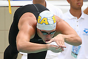 Belo Horizonte_MG, Brasil...Nadador Thiago Pereira, do Brasil, na prova de 200m medley, durante a  ultima etapa da Copa do Mundo de Natacao 2006 em Belo Horizonte...The swimmer Tiago Pereira, of Brazil, in the 200m medley, during the last stage of the Swimming World Cup 2006 in Belo Horizonte...Foto: LEO DRUMOND / NITRO
