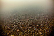 Smoggy aerial view of Ho Chi Minh City, Vietnam, Southeast Asia