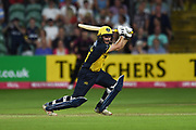 Andrew Salter of Glamorgan batting during the Vitality T20 Blast South Group match between Somerset County Cricket Club and Glamorgan County Cricket Club at the Cooper Associates County Ground, Taunton, United Kingdom on 24 August 2019.