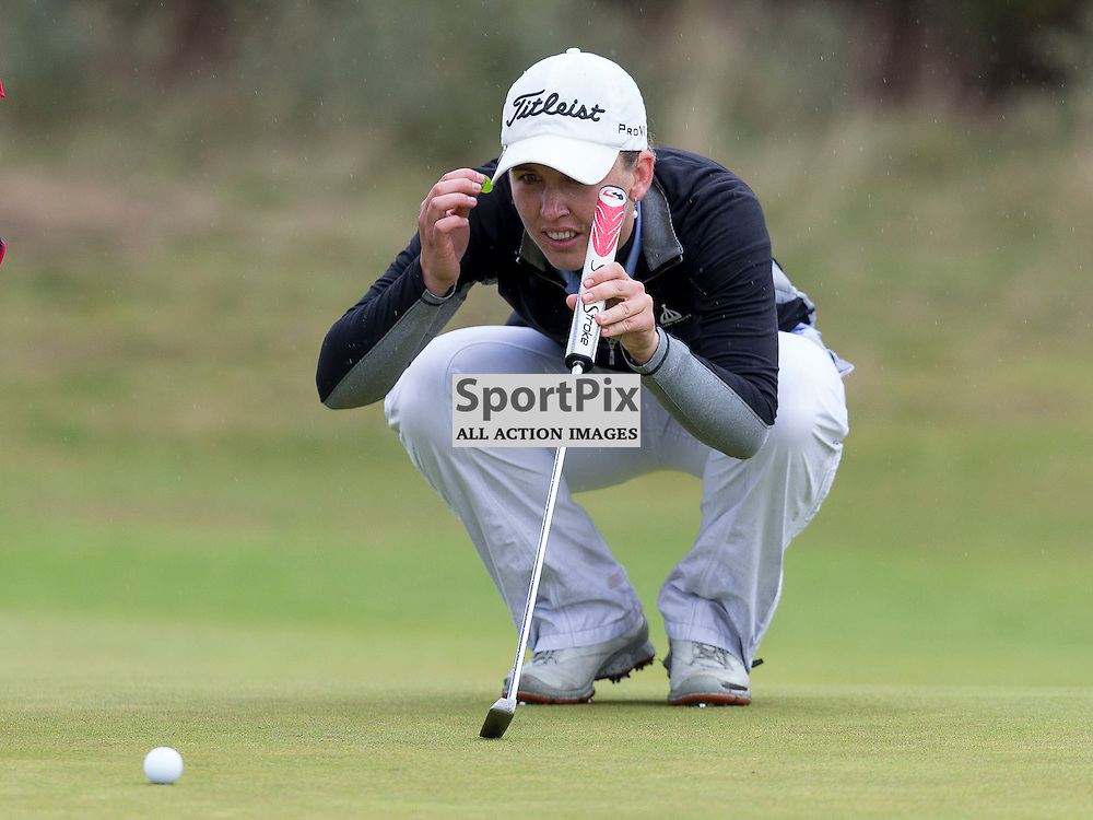 Ladies Scottish Open 2014<br /> <br /> Sally WATSON in action during the Aberdeen Asset Management Ladies Scottish Open played at Archerfield Links 29-31 August 2014<br /> <br /> Picture: Alan Rennie