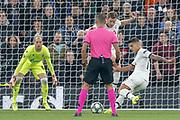 GOAL 4-0 Tottenham Hotspur midfielder Erik Lamela (11) scores during the Champions League match between Tottenham Hotspur and Red Star Belgrade at Tottenham Hotspur Stadium, London, United Kingdom on 22 October 2019.