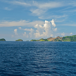 Group of islands at the horizon in the Misool area, West-Papua.