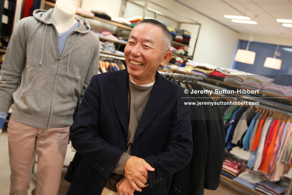 Tadashi Yanai, Chairman and CEO of Fast Retailing, the holding company of Uniqlo clothing, in the Uniqlo headquarters, Tokyo, Japan, Friday, November 23rd, 2007.