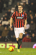 Lewis Dunk of Brighton and Hove Albion during the Sky Bet Championship match at Craven Cottage, London<br /> Picture by David Horn/Focus Images Ltd +44 7545 970036<br /> 29/12/2014