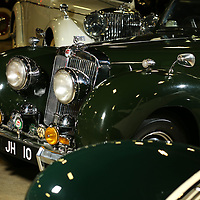 The 1949 Triumph 2000 on diplay at the Tupelo Automobile Museum.