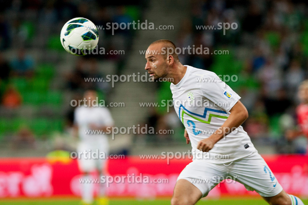 Miso Brecko of Slovenia during qualifications football match for world cup 2014 in Brazil between national team of Slovenia and Switzerland, on September 7, 2012 in Ljubljana, Slovenia. (Photo by Urban Urbanc / Sportida.com)