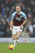 10 Ashley Barnes for Burnley FC during the Premier League match between Burnley and Fulham at Turf Moor, Burnley, England on 12 January 2019.