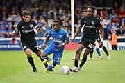 Peterborough United midfielder Siriki Dembele (10) surges forward during the EFL Sky Bet League 1 match between Peterborough United and Portsmouth at London Road, Peterborough, England on 15 September 2018.