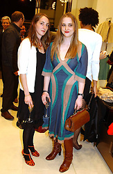 Left to right, sisters POPPY DE VILLENEUVE and DAISY DE VILLENEUVE at a party to celebrate the opening of the new H&M Flagship Store at 17-21 Brompton Road, London SW3 on 23rd March 2005.<br /><br />NON EXCLUSIVE - WORLD RIGHTS