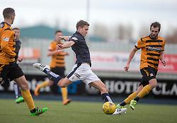 Falkirk's Will Vaulks shots. <br /> Falkirk 2 v 0 Alloa Athletic, Scottish Championship game played 5/3/2016 at The Falkirk Stadium.