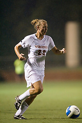 Virginia Cavaliers M/D Nikki Krzysik (23)..The Virginia Cavaliers hosted the Colorado  Buffalos in the first game of the 2007 Nike Soccer Classic held at Klockner Stadium in Charlottesville, VA on August 14, 2007.