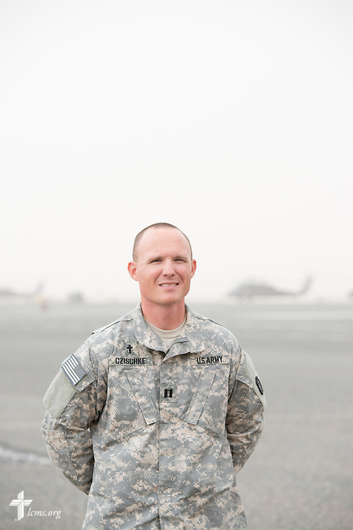Portrait of Army Capt. Chad Czischke, chaplain, Sunday, March 22, 2015, at Camp Buehring in Kuwait. LCMS Communications/Erik M. Lunsford