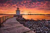 The sky absolutely exploded above Bug Light in South Portland on this memorable mornign.