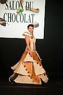 Fanny Rochez - Défilé d'inauguration de la 2eme Edition du Salon du Chocolat à Bruxelles. Lors du défilé chocolat on a pu apercevoir Annelies Törös (Miss Belgique 2015) ainsi que différentes personnalités de l'audio-visuel belge.  Belgique, Bruxelles, le 05 février 2015.